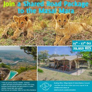 Buchen Sie mit uns heute ein Gruppen Package in die Masai Mara ~ 25-27-Oktober