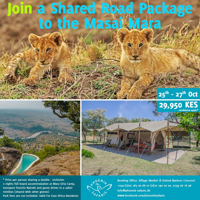 Book With Us Today For Experience Like No Other – Join A Shared Road Package The Masai Mara ~ 25-27-Oktober