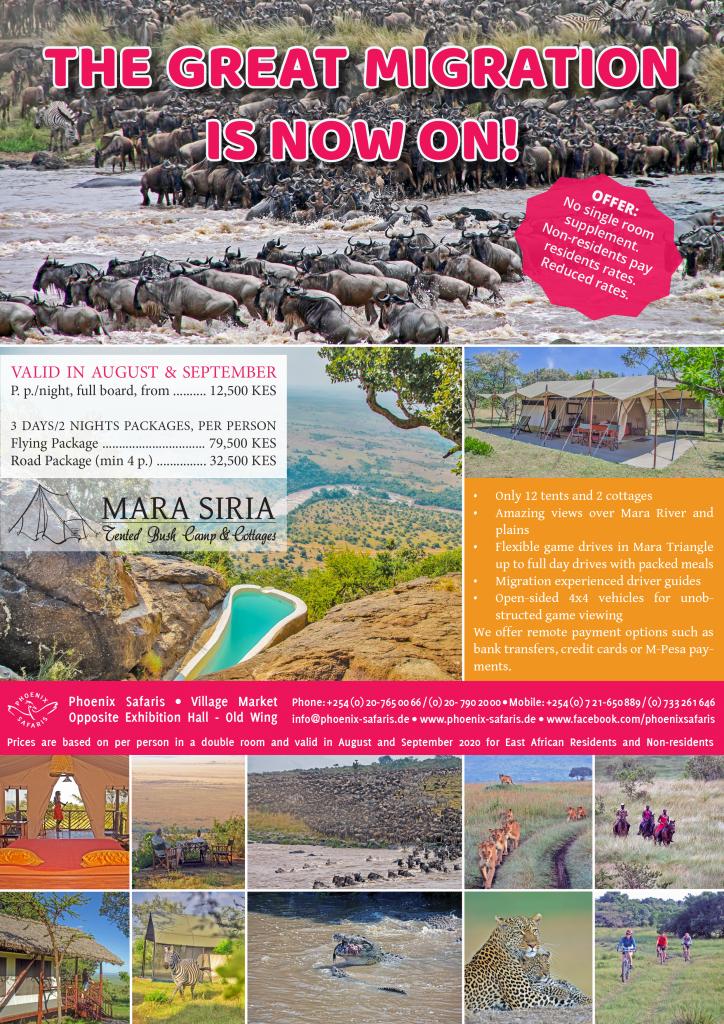 Phoenix Safaris Migration 2020