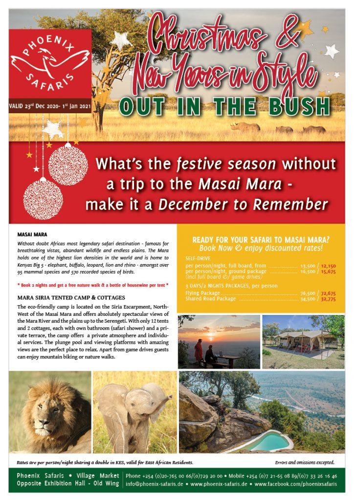 PHOENIX SAFARIS XMAS Masai Mara discounted offer