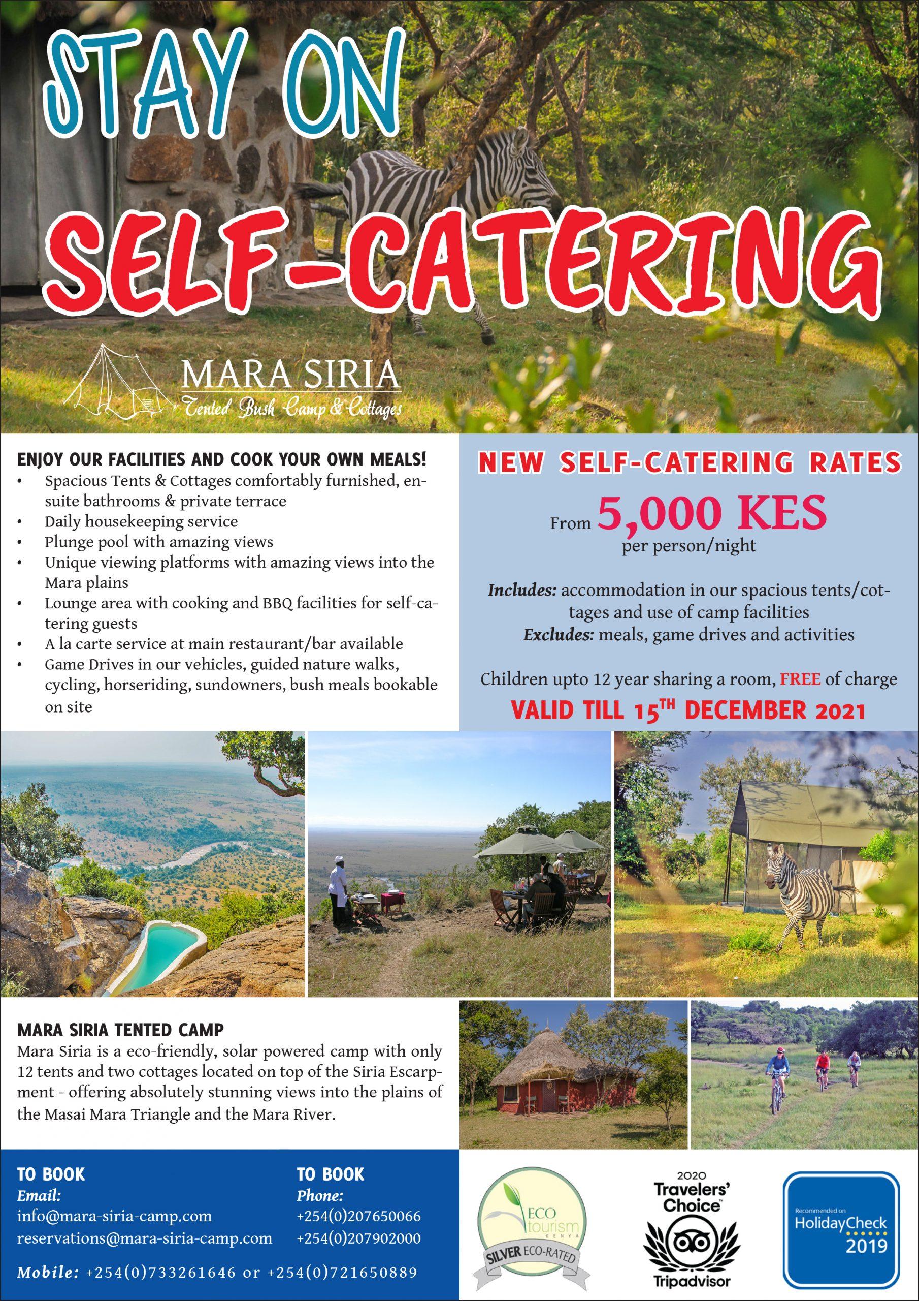 Mara Siria Tented Camp Self Catering Oct Dec scaled